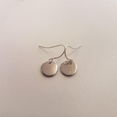 Silver Disc Earring