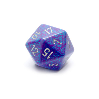 Silver Tetra' Large Twenty Sided Dice