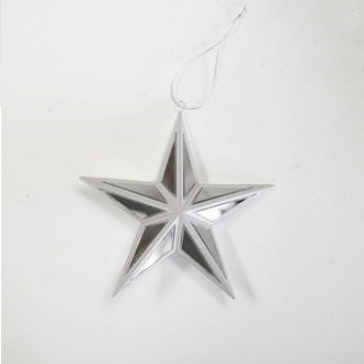 Silver/White Mirror Star - Small