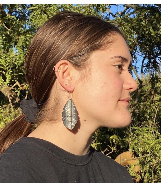 Silvereye earrings