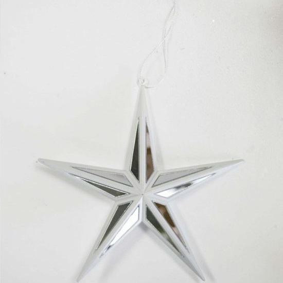 Silver/White Mirror Star - Large