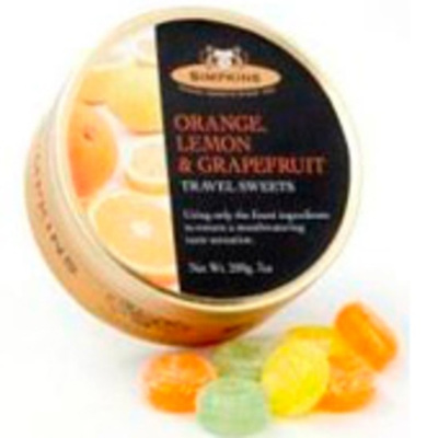 Simpkins Travel Sweets - Orange, Lemon, Grapefruit