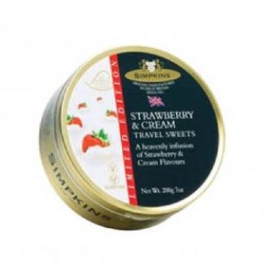 Simpkins Travel Sweets - Strawberry & Cream