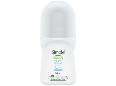 Simple Female Antiperspirant Roll On Deodorant Pure 50ml