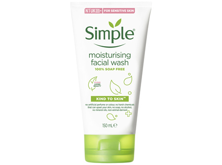 Simple Kind To Skin Facial Wash Moisturising 150mL