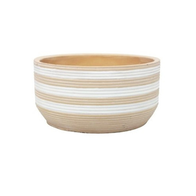 Siri Bowl - Natural & White 20 x 10cmh