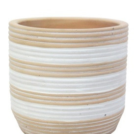 Siri Planter - Natural & White - 15cmh