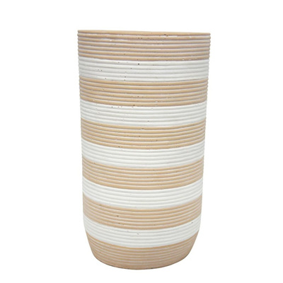 Siri Vase - Natural & White 32cmh