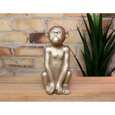 Sitting Monkey - Gold