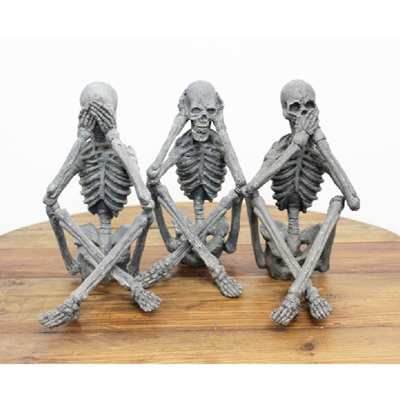 Skeleton - See No, Hear No, Speak No Evil Ornament