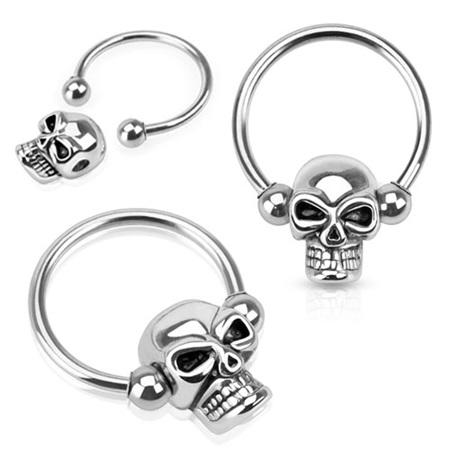 Skull Captive Bead Ring