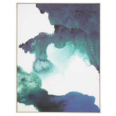 Smokey Canvas Print - Natural Frame 100x140cm