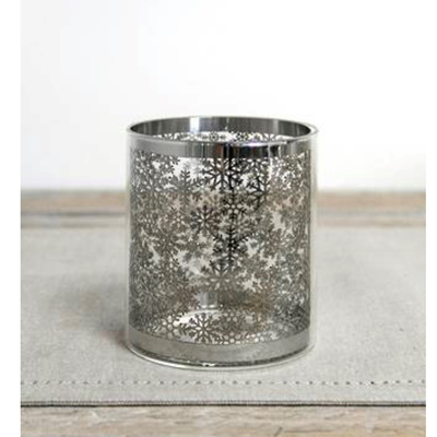 Snowflake Glass Votive