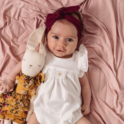 Snuggle Hunny Kids - Burgundy Topknot Headband