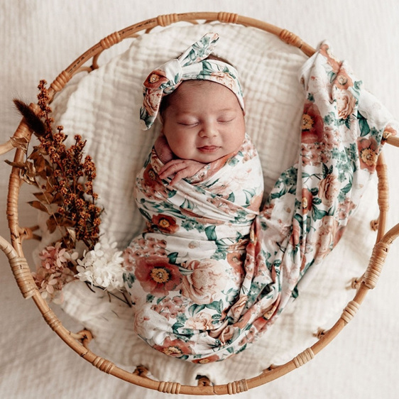 Snuggle Hunny Kids - Florence Stretch Cotton Swaddle Set
