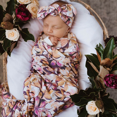 Snuggle Hunny Kids - Leilani Jersey Wrap & Topknot Set