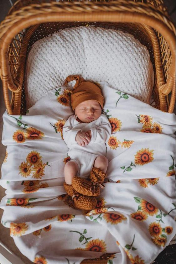 Snuggle Hunny Kids Muslin Wrap - Sunflower