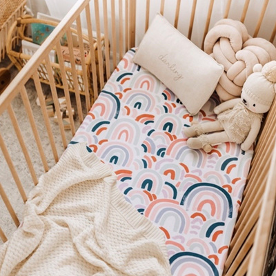 Snuggle Hunny Kids - Rainbow Cot Sheet