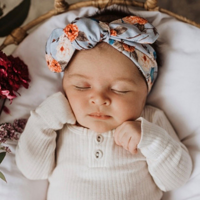 Snuggle Hunny Kids - Vintage Blossom Topknot Headband