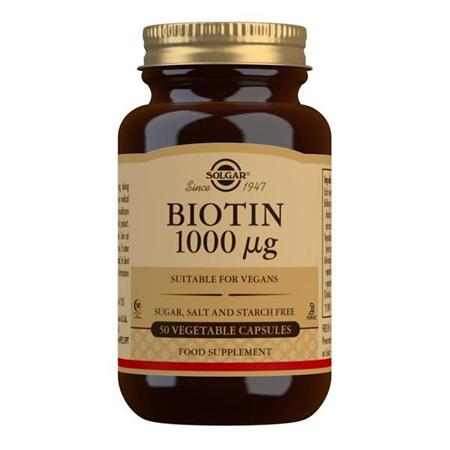 SOLGAR Biotin 1000mcg 50s