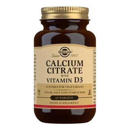SOLGAR Calcium Citrate 60tab