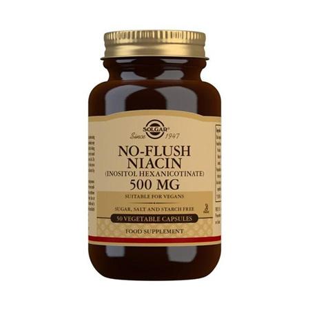 SOLGAR No Flush Niacin 500mgs 50s