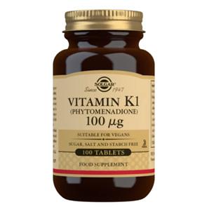 SOLGAR Vitamin K1 100mcg 100s