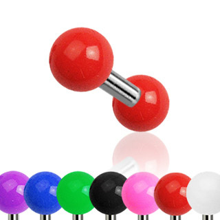 Solid Colored Acrylic Ball Tragus/Cartilage Barbell