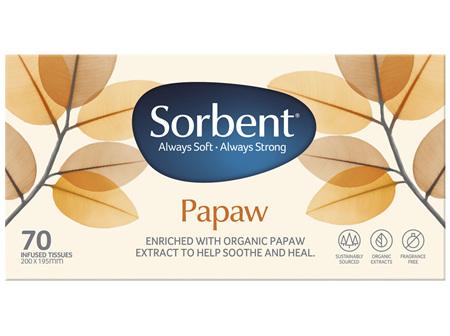 Sorbent Papaw Facial Tissue 70s
