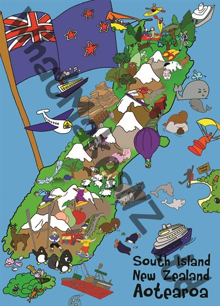 South Island Super Floor Puzzle