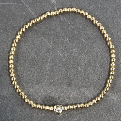 Sparkle Heart Bracelet - Gold