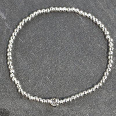 Sparkle Heart Bracelet - Silver