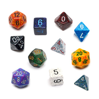 'Speckled' Polyhedral Dice