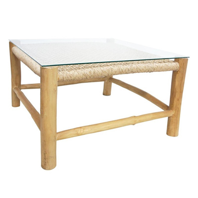 Square Accent Coffee Table Natural-Teak&Viro 80cm