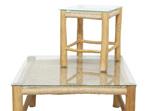 Square Accent Side Table Natural-Teak & Viro 38cm