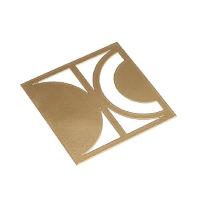 Square Coaster W/Cutouts Gold Metal