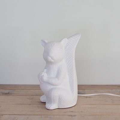 Squirrel Porcelain Table Lamp