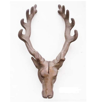 Stag Double Wall Hook - Cast Iron
