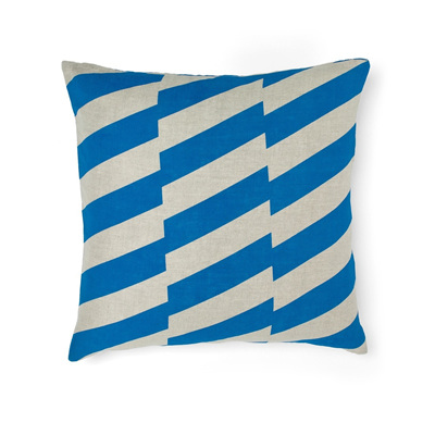 Staggered Cushion - Brilliant Blue