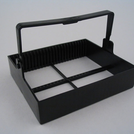 Staining Rack, 25 place, POM Black Plastic