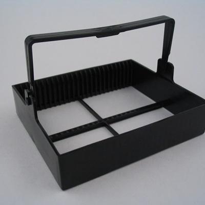 Staining Rack, 25 place, POM Black Plastic