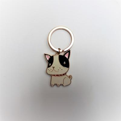 Standing Cat Enamel Key Ring