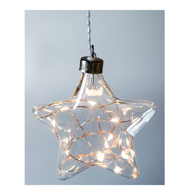 Star Hanging Clear Glass Light