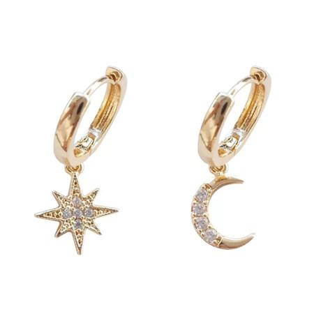 Star & Moon Charm Earrings
