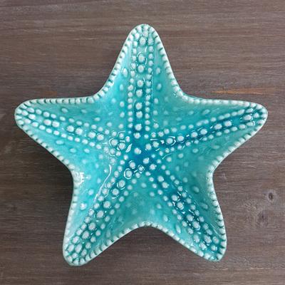 Starfish Trinket Tray Teal