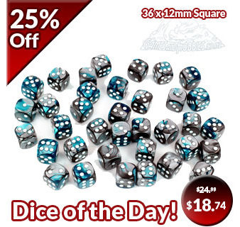 Steel & Teal Dice of the Day