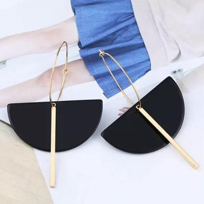 Stella Moon Drop Earrings - Licorice