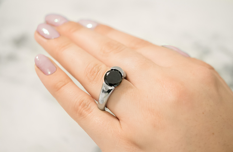 Stellad ring by The Inspired Collection - now with a black diamond
