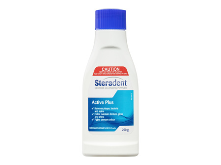 Steradent Active Plus Denture Cleansing Powder 200g