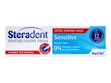 Steradent Denture Sensitive Fixative Cream 40g